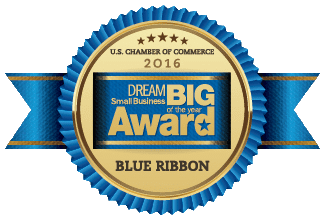2016 Dream Big Blue Ribbon Small Business Award Winner!