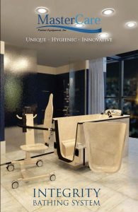 Information on bathing system with space saving transporter chair and spa feauture.