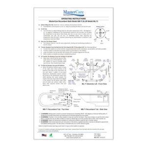 Recumbent Wall Chart - Operating instructions.