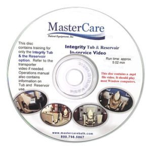 DVD with training for Integrity Tub and Reservoir options and Transporter video. Operation and use manual.