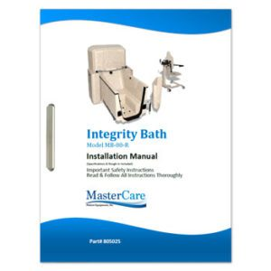 Integrity Bath System with Reservoir: Installation and Safety Instructions.